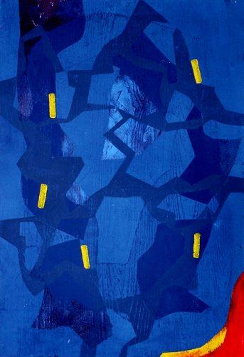Blauer Traum, Farbholzschnitt