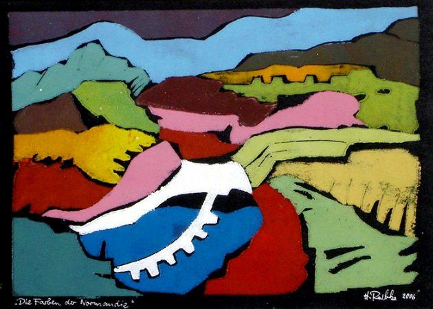Die Farben der Normandie, Farbholzschnitt