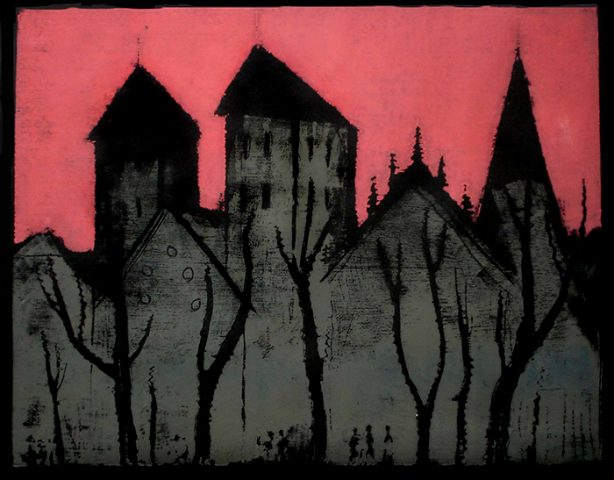 Dom zu Münster, Farbholzschnitt