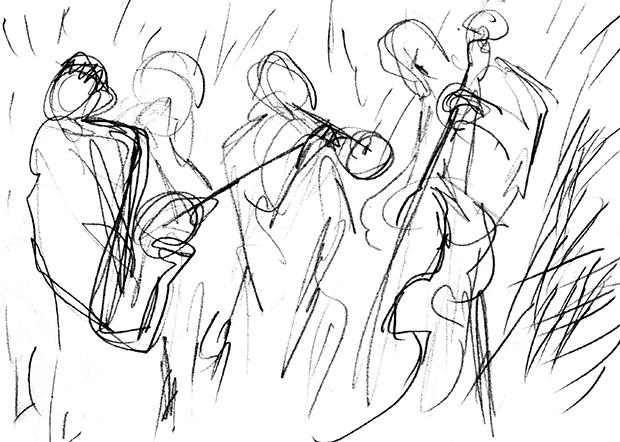 Dixieland (1), Radierung