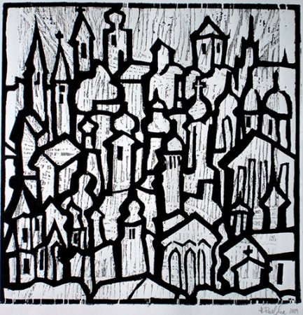 Kirchenwelt, Farbholzschnitt