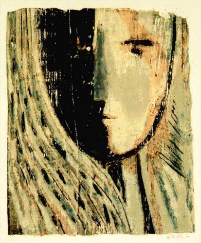Kopf (2), Farbholzschnitt
