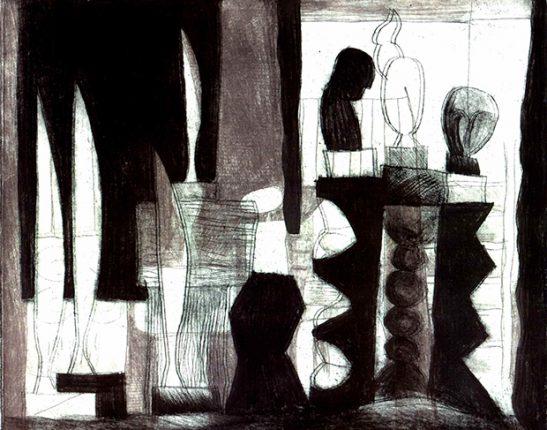 Memoriam Brancusi (2), Farbholzschnitt