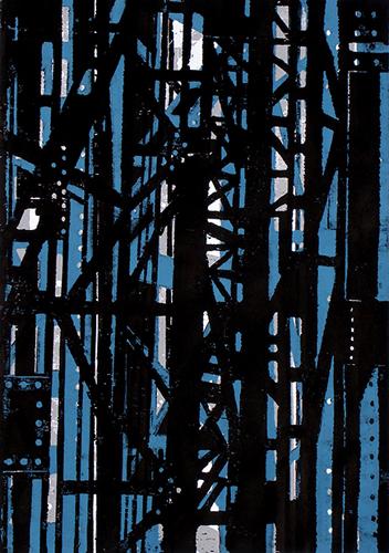 Stahlbau (2), Farbholzschnitt
