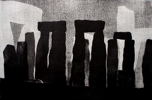 Stonehenge, Farbholzschnitt